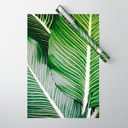 Big Leaves - Tropical Nature Photography Wrapping Paper