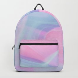 Pink and blue smoke Backpack
