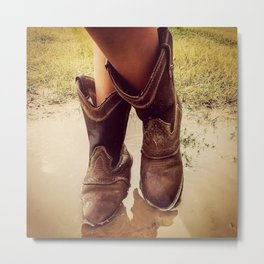 Cowboy Boots Metal Print