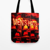 hats Tote Bags featuring Men's Hats by Wanker & Wanker