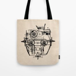 Clockhead Tote Bag