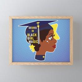 Degree in Black Girl Magic Framed Mini Art Print