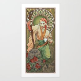 Mucha Caduceus Art Print