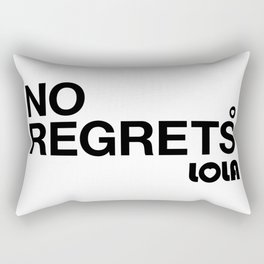 No Regrets Rectangular Pillow