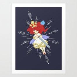 Video game girl 03 Art Print