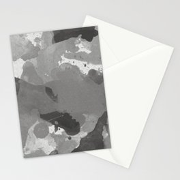 Pantone Pewter Gray Splatters Watercolor Camo Pattern Stationery Cards