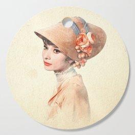 Audrey Hepburn - Eliza Doolittle - Watercolor Cutting Board