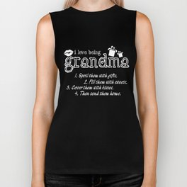 Grandma T-Shirt I Love Being a Grandma Gift For Grandma Biker Tank