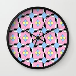 symetric patterns 64 -mandala,geometric,rosace,harmony,star,symmetry Wall Clock