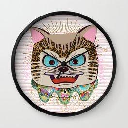 Wild cat enlightened Wall Clock