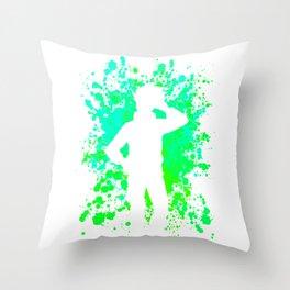 Anime Paint Splatter Inspired Shirt Throw Pillow