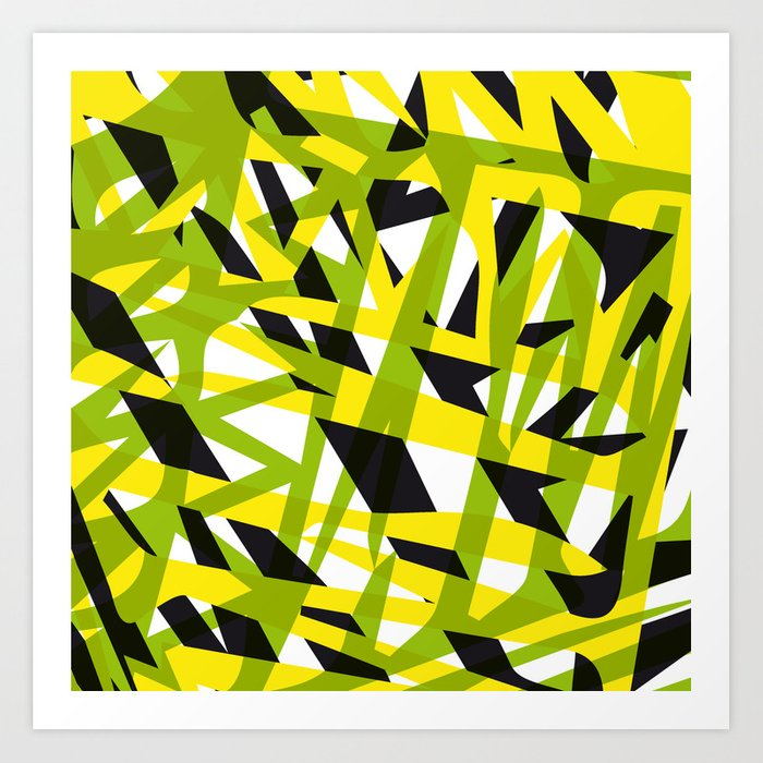 structure camouflage Art Print