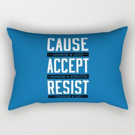 Lab No. 4 Cause Change And Lead Ray Noorda Inspirational Rectangular Pillow