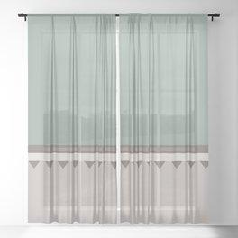 Jagged 5 Sheer Curtain