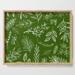 Emerald Forest Serving Tray