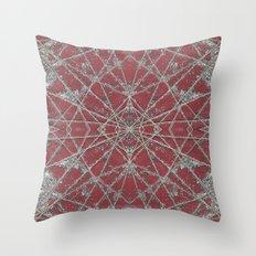 Snowflake Red Throw Pillow
