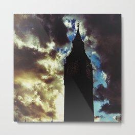 Big Ben up in the clouds Metal Print