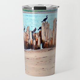 Perched on Wharf Remains Travel Mug