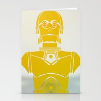 starwars Stationery Cards featuring StarWars C3PO by Joshua A. Biron