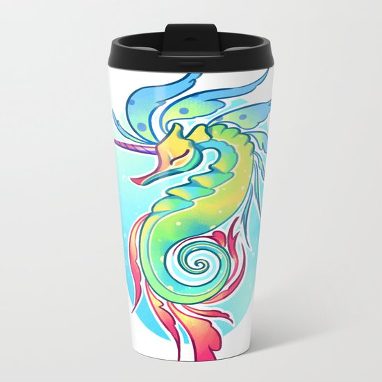 Sea Unicorn Metal Travel Mug