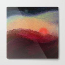 898 // sunset flood Metal Print