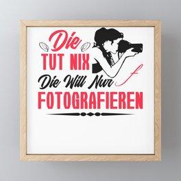 Photographer Gift Camera Lover Women Photography Framed Mini Art Print