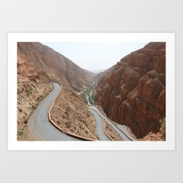 Todgha Gorge in the south of the High Atlas in Morocco Art Print