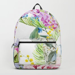 Vision in White Backpack