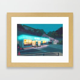 PokeMart - Kanto in real life Framed Art Print