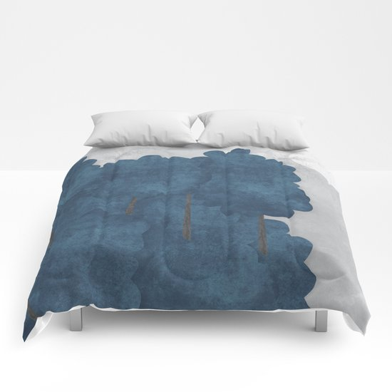 Blue trees Comforters