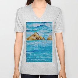 The Arch Cabo San Lucas Mexico Watercolor #2 Unisex V-Neck