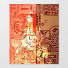 electronic buddha Canvas Print