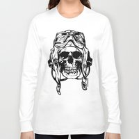 kindle Long Sleeve T-shirts featuring 101 by ALLSKULL.NET