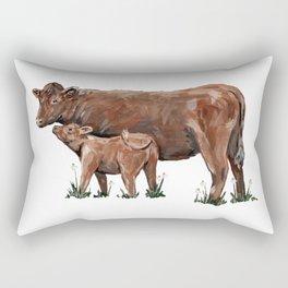 Mom and Calf Rectangular Pillow