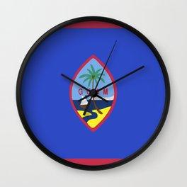 Guam flag emblem Wall Clock