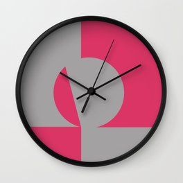 gray pink Wall Clock