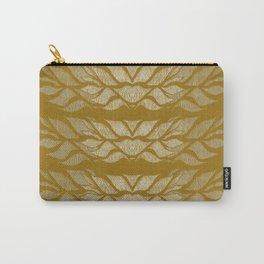 Saffron Leafy Lines  Carry-All Pouch