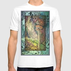 Bird House and Muses Mens Fitted Tee MEDIUM White