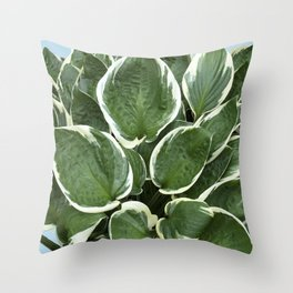 Cascade of Leaves Throw Pillow