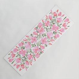 Pink watercolor poppies Yoga Mat