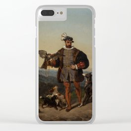 ALEXANDRE-THOMAS FRANCIA (FRENCH 1813-1884) Hunter`s Companions Clear iPhone Case