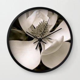 Angelic Magnolia II B&W Wall Clock