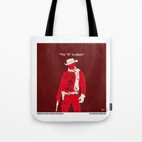 dentist Tote Bags featuring No184 My Django Unchained minimal movie poster by Chungkong