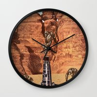 2001 Wall Clocks featuring 2001 by Ben Giles