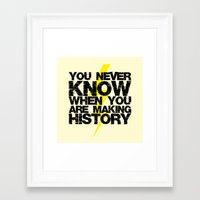 history Framed Art Prints featuring HISTORY by Silvio Ledbetter