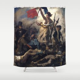 Liberty Leading the People by Eugène Delacroix (1830) Shower Curtain