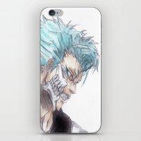 bleach iPhone & iPod Skins featuring Grimmjow Bleach  by Naomi Simone