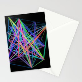 Colorful Rainbow Prism Stationery Cards