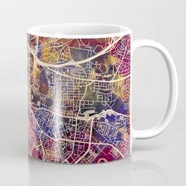 Glasgow City Scotland Street Map Coffee Mug