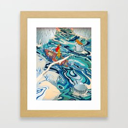 """The Hidden Ocean Patch That Broke Climate Records"" by Paulo D. Campos for Nautilus Framed Art Print"